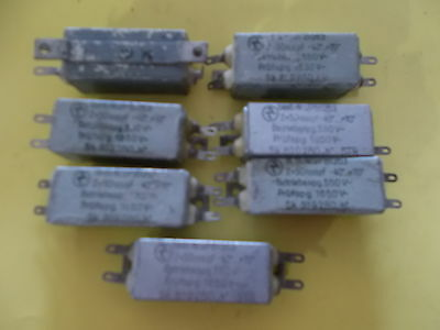 7 pcs 2x 50nf/550vdc glimmer caps, new, NOS, tested