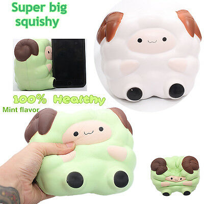 New Jumbo Big Sheep Squishy Charm Slow Rising Phone Charm Stress Relief Toy Gift