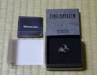 Used Square Enix Final Fantasy 7 Sephiroth Silver Ring Size 19 tracking