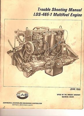 LDS-465-1 multifuel engine trouble shooting manual for the M35,M35A2 series