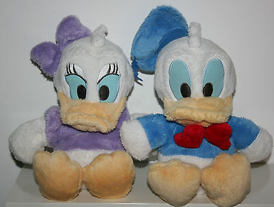 "lovely disney donald duck & daisy duck soft toys approx 10"" tall"