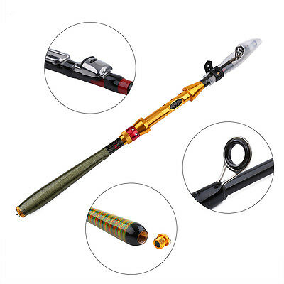 Mini Travel Portable Fishing Rod Spinning Pole Carbon Fiber Freshwater Tackle SG