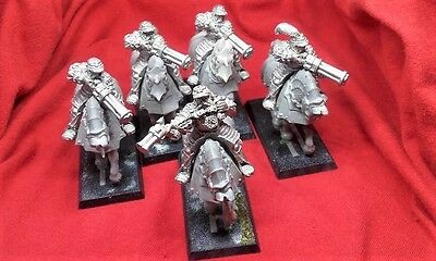 Classic Warhammer Empire Outriders (metal) x 5, Games Workshop,Citadel Oldhammer