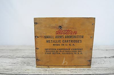 Vintage Wood Box Western 38 Special Ammunition Crate Ammunition Shipping Crate