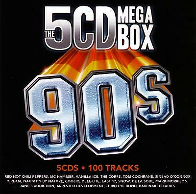5 CD MEGA BOX OF THE 90's / VARIOUS ARTISTS  -  new condition