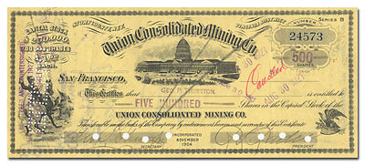 Union Consolidated Mining Company Stock Certificate