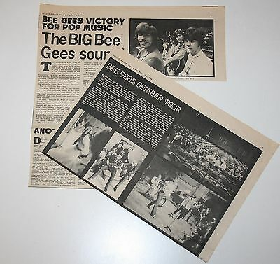 BEE GEES 2x original 1968 UK articles andy barry maurice magazine clippings