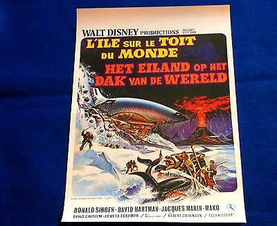 The Island at the Top of the World Walt Disney  ORIGINAL BELGIAN MOVIE POSTER