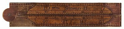 Stanley No. 78 1/2 Double Arch Joint Folding Rule -Early Trademark -Clean/Sound