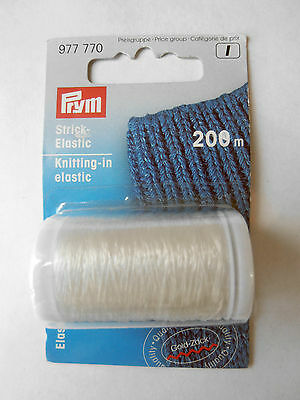 Prym Invisible Knitting In Elastic Thread For Knitting & Crocheting 200M