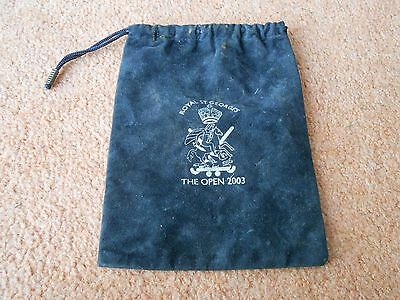 Royal St. George's The Open Golf 2003 cloth bag.