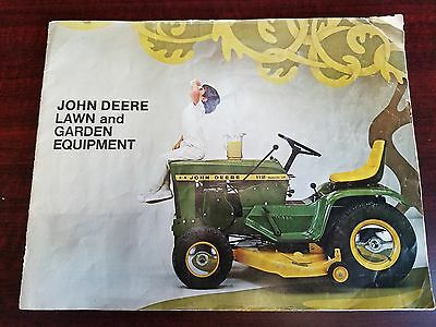 1969 John Deere Vintage Antique Collectible Lawn Garden Brochure Literature RARE