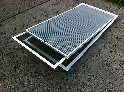 Ducted Heating Aircon Return Air Grille Vent Filtered Eggcrate grill 400x900 mm
