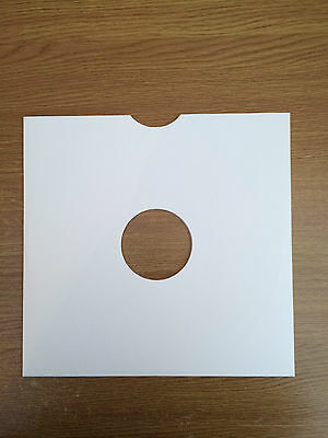 """50 High Quality 10"""" White Card 78RPM Record Sleeves"""