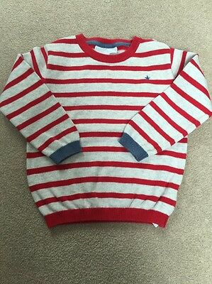The Little White Company Baby Boys Stripe Jumper 12-18 Months