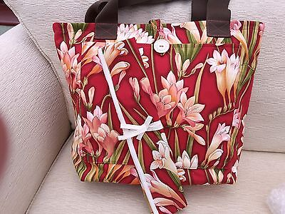 Large Knitting/crochet/craft Bag With Matching Knitting Needle Holder - Gorgeous