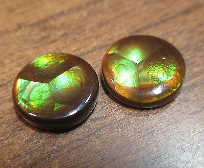 Natural Free form MEXICAN Fire Agate GEM stone PAIR OF MATCHING AGATES