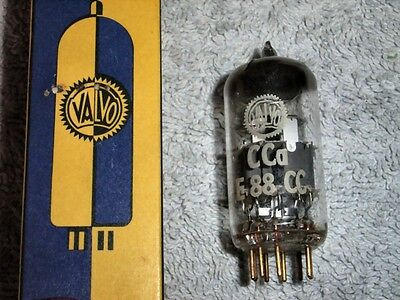 Valvo CCa NOS D-getter vacuum tube 6922 E88CC 45°declined getter mirror