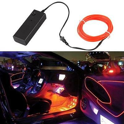 Flexible Red Neon Light Glow EL Wire Rope for Car Party 3M
