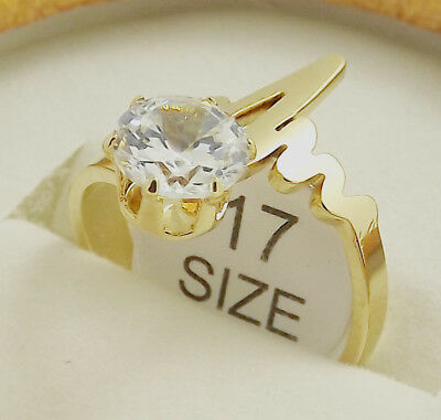 Wholesale 18 pcs High Quality Plated gold Fashion Zircon Stainless steel Rings
