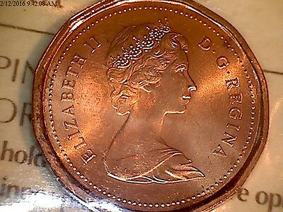 Choice Blazing Red Premium Quality Canadian 1982 1 Cent Iccs ***ms-66*** Red