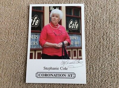 Stephanie Cole Itv Coronation Street Pre Printed Signed Card - Mint Condition