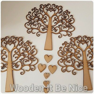 Swirl Family Tree 17.5cm x 17.5cm 3.8mm MDF Made and posted in Ireland