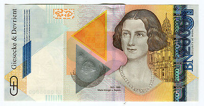 "Germany Specimen Test Banknote Germany G&d ""queen Of Bavaria"" 2005 Intaglio"