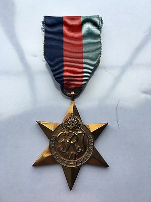GB WWII 1939/45 Star Medal, Full-Size Original 1st issue (with ribbon)