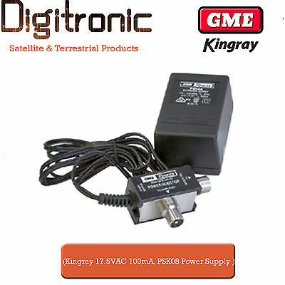 Kingray 14VDC 150mA Power Supply PSK06 for Digital Antenna Boosters/Amplifier