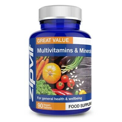 Multivitamins & Minerals, Pack of 90 Tablets, by Zipvit