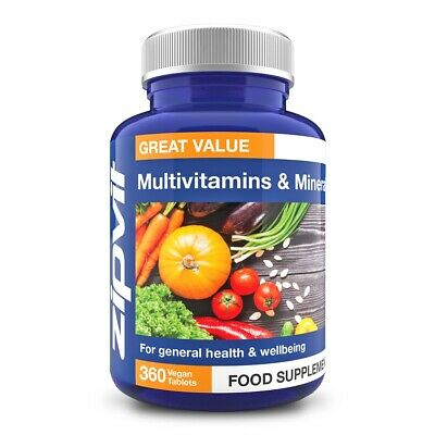 Multivitamins & Minerals, Pack of 360 Tablets, by Zipvit
