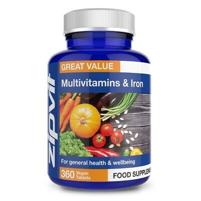 Multivitamins & Iron, Pack of 360 Tablets, by Zipvit