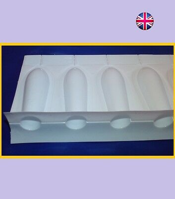 48 Empty Plastic Suppository Moulds  ADULT SIZE  DIY Disposable  Molds 2ml UK