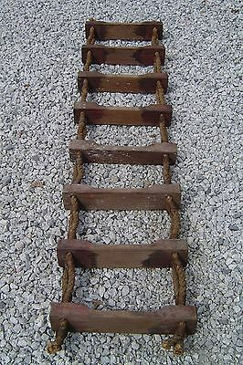 Salvaged 7 Foot Ship's Jacobs Rope-Wood Ladder