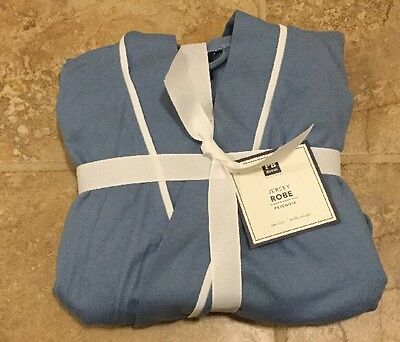 NEW Pottery Barn Teen Solid Jersey Robe DUSTY BLUE