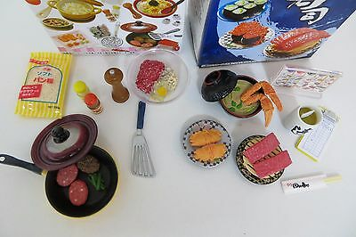 Re-Ment Miniature Japanese Mini Food Sushi Cooking Hamburger Dolls House Kitchen