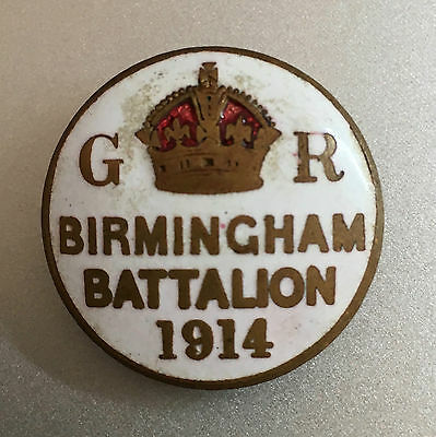 Birmingham Battalion 1914 Lapel Badge