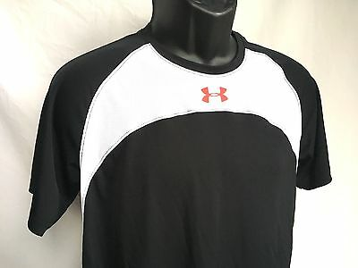 UNDER ARMOUR Heat Gear Youth YXL S/S Athletic Shirt Base Layer Blue White Red
