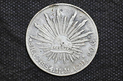 Mexico - Republic 1884/3 Ca MM 8 Reales Silver Coin ( Weight : 26.66 g) C08