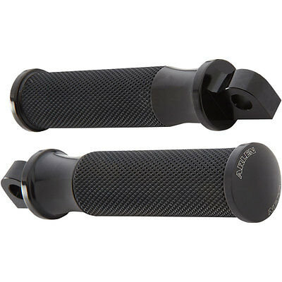 Arlen Ness Black Fusion Smoothie Foot Pegs for Harley Softail Dyna Sportster XL