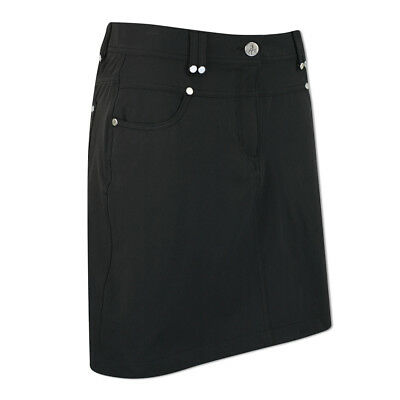 Green Lamb Jeans-Style Skort with UV Protection in Black