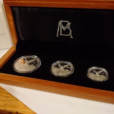 2013 Silver Libertad 3 Coin Boxed Proof Set 1.75 Oz Rare Low Mintage