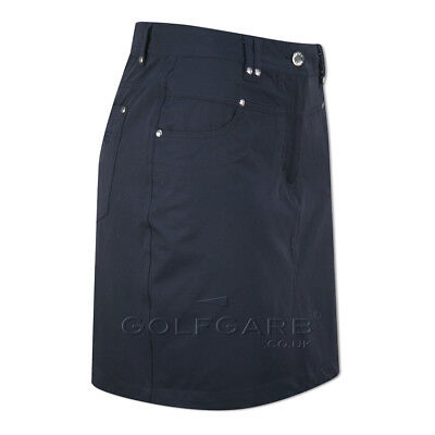 Green Lamb Jeans-Style Skort with UV Protection in Navy