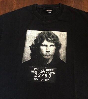 VTG Jim Morrison Mugshot T Shirt The Doors Winterland Classic Rock L Rare Tour