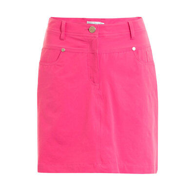 Green Lamb Jeans-Style Skort with Added Stretch in Fuchsia Pink