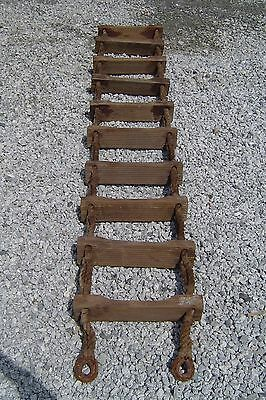 Salvaged 10 Foot Ship's Jacobs Rope-Wood Ladder