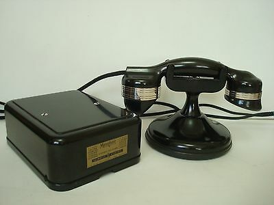 Antique  Automatic Electric Monophone High cradle telephone Deskset Working