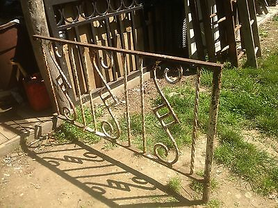 Vintage Art Deco Cast Iron Gate Fence Yard Art