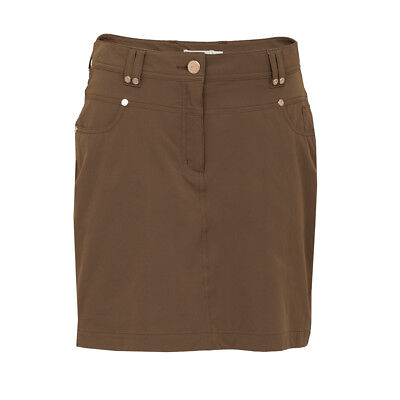Green Lamb Jeans-Style Skort with UV Protection in Khaki